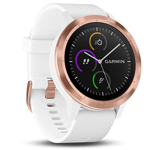 Garmin Vivoactive 3 GPS Smartwatch with Built-in Sports Apps and Wrist Heart Rate - Rose Gold/White (Renewed)