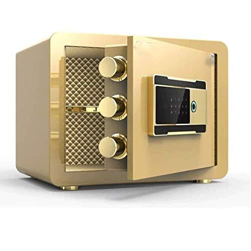 GYDSSH Caja de Seguridad - Digital Cajas fuertes for el hogar, con reconocimiento de huellas dactilares, salvo Inicio Pequeño invisible contraseña Oficina seguro, antirrobo de huellas dactilares
