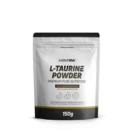 HSN RAW - Taurin Pulver | Fördert die Hydratation und reduziert Krämpfe | Neurotransmitter, erhöht die GABA-Produktion | Vegan, glutenfrei, laktosefrei, 150 g