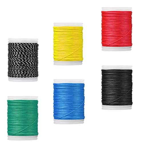 Backbayia 6 Pieces Archery Bowstring Serving Thread for Compound Bow and Recurve Bow