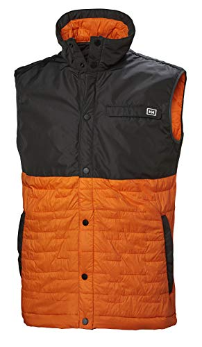 Helly Hansen Movatn Wool Ins - Chaleco Hombre - Gris/Naranja Talla 2XL...