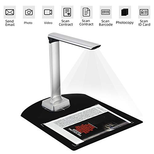 Koolertron Professional Book Document Scanner Camera,Auto Focus 12MP High...