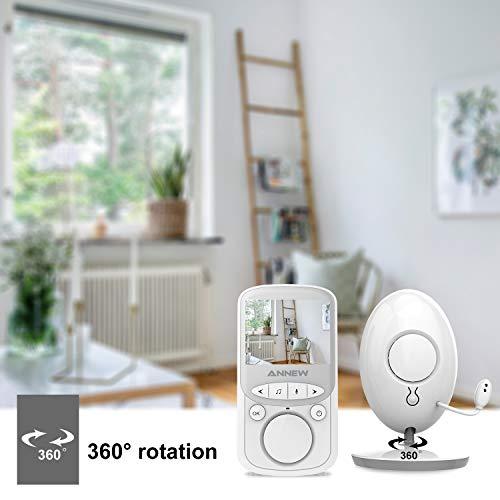 ANNEW Babyphone Baby Monitor mit Kamera Video Audio Temperatursensor Nachtsicht Wiegenlied Zwei-Wege-Gespräch (VB605-EU) - 3