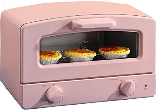 Mini-Backofen, elektrischer Ofen, 12 L Doppelrotation Multifunktions-Backgrill, Toaster-Ofen mit 60 Minuten Timer, 90-230