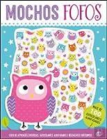 Autocolantes fofos - Mochos fofos: Livro de atividades (Portuguese Edition)