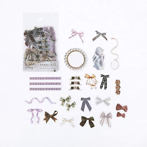 FSHB 40 Hojas de Plantas Flores Mini Pegatinas de álbum de Recortes Pegatina de Papel estético Copos estacionario Accesorio de Oficina