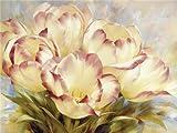 N / A ysyxin Kit de Pintura tulipán Pintura al óleo Digital DIY Pintura por números Pintura en Lona Kits decoración del Arte de la Pared de la Lona de Lino-16 x 20 Pulgadas Sin Marco