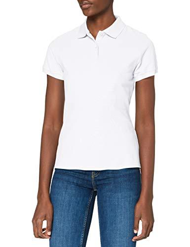 Fruit of the Loom Damska koszulka polo premium, biały, L