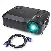 Beamer, Crenova XPE650 HD Beamer Projektor mit 2800 Lumens 1280 * 768 Auflösung 120 Inches Video Display Unterstützung HDMI VGA USB SD AV TV Eingang für Home Cinema + Free VGA & HDMI Kabel