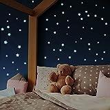 400 Leuchtsterne selbstklebend [Perfekter Halt auf allen