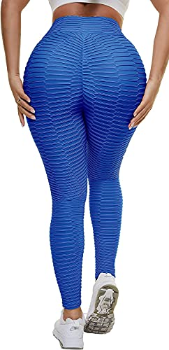 Amacigana Leggings para mujer, pantalones de fitness de melocotón, para correr, gimnasio, uso diario (XX-Large,7527 Blue)