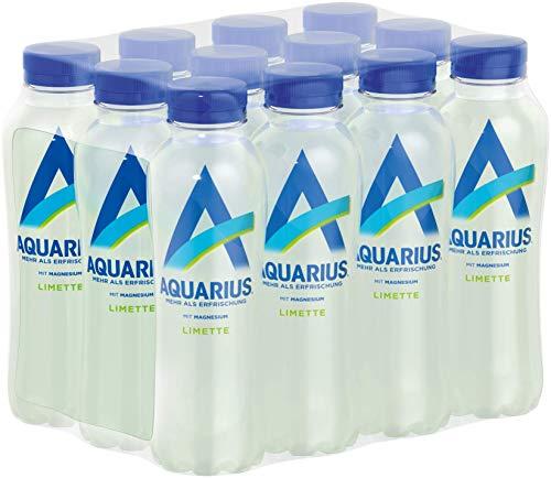 Aquarius Limette mit Magnesium, erfrischender Limettengeschmack trifft auf belebendes Magnesium, 12er Pack (12 x 400 ml)