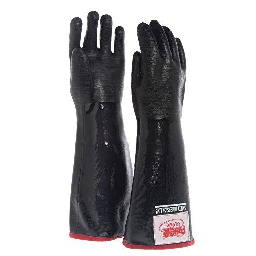 """The Fryer Glove Black Neoprene Fryer Gloves - 21""""L"""