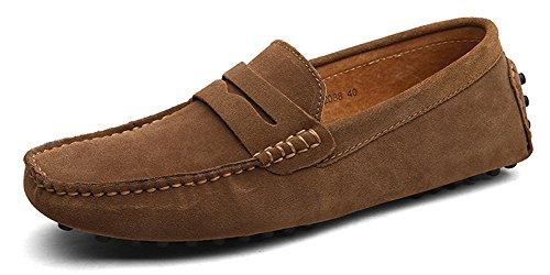 Eagsouni® Mocasines Pisos Gamuza Hombres Loafers