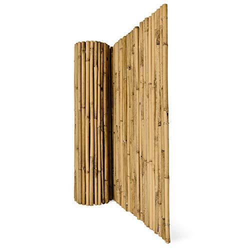 Sol Royal Sichtschutz Bambus Zaun Massiv 90x250cm (HxB) SolVision B38 Bambusmatte Premium - Bambusstangen als Sichtschutzmatte Natur mit dickem Bambusrohr