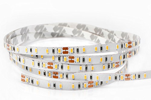 Rouleau de 5 mètres de ruban 600 LED 2216 SMD lumière monochrome au choix 5 m 24 V DC PCB étroit 4 mm avec adhésif double face IRC 95 + mod. Premium 6000 K Luce Fredda (White)