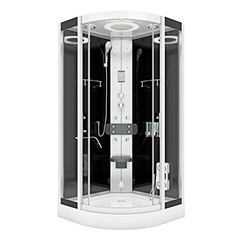 AcquaVapore DTP8058-2300 - Cabina de ducha (100 x 100 cm, con 2 cristales sellado)