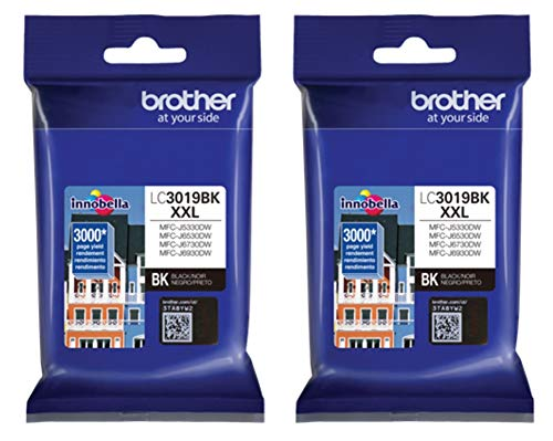 Brother LC-3019BK Super High Yield Ink Cartridge - Black - 2 Pack in Retail Packing …