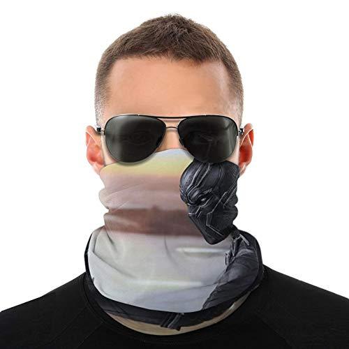 Pauelo negro para el cuello de la pantera, proteccin facial, bufanda mgica, para exteriores, festivales, deportes