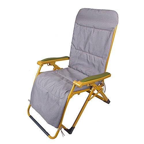 Chaises pliantes Xiaolin Chaise inclinable Chaise de Bureau élargissement Chaise Enceinte de Balcon (Couleur : Light Gray Cotton Pad)