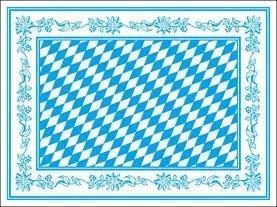 25er Set Platzdeckchen - Bayern Rautendesign - Gr. ca. 40 x 30 cm mit Rautendesign und Bordüre - 29654