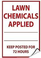 メタルプラークの芝生の化学物質を適用し続ける時間B7、レトロな鉄の絵画の金属のポスターの警告のプラークアートガレージのホームガーデンストアバーインチの装飾