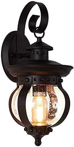 Rekaf American Retro al Aire Libre lámpara de Pared Americana Impermeable de Pared Burbuja Vidrio lámpara iluminación de Pared Impermeable Creativo Hierro labrado Sol Sala de Sol balcón al Aire Libre
