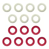 Billiard Evolution Small Rubber Rings for Bumper Pool Table: 7 Red and 7 White