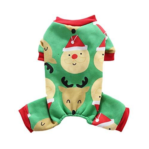 Ropa Para Perros Mascota Patrón De Copo De Nieve De Navidad Pijamas Para Perros Para Mascotas Mono Para Perros...