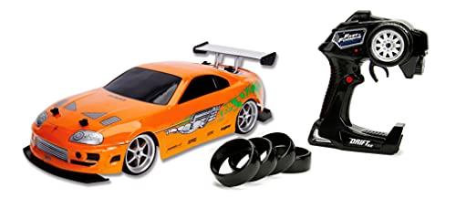 Jada Toys Fast & Furious RC Auto Drift 1995 Toyota Supra Turbo-Coche teledirigido con 2...