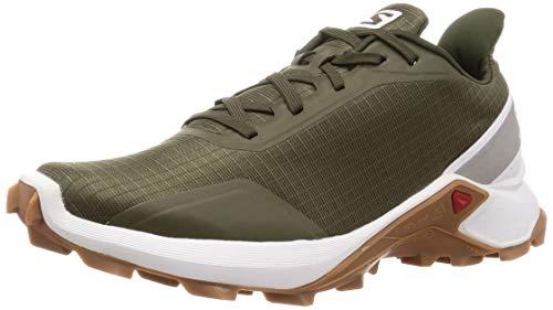 Salomon Men's ALPHACROSS Trail Running Shoe, Grape Leaf/White/Gum1a, 13