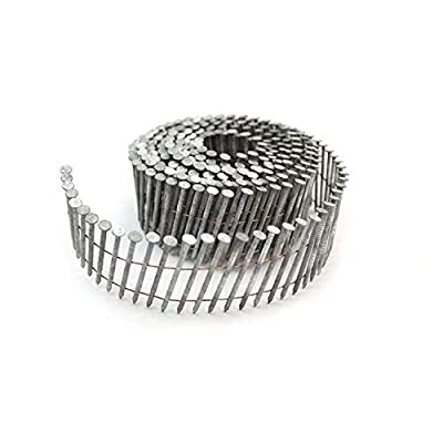 Freeman SNRSHDG92-134WC 15 Degree Galvanized Steel Wire Collated Ring Shank Coil Siding Nails for Decking Installation, Sheathing, and Fencing, 7200 Count