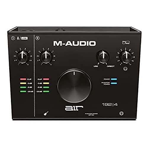 M-Audio AIR 192|4 - Interface Audio USB / USB-C, Carte Son avec 2 Entrées et Sorties avec Logiciels de Studio: Pro-Tools|First, Ableton Live Lite, Eleven Lite, Avid Effects Collection et FX et Vis