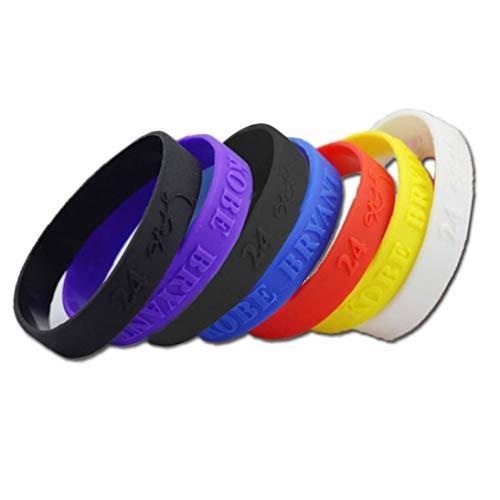 Adore store Deportes de Silicona Pulseras de Goma Unisex Pulseras Colores Mezclados 6pcs / Paquete Accesorios Favor de Partido del Hogar