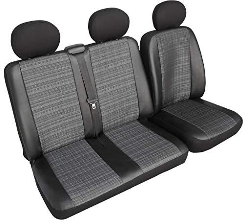 Rimers Autositzbezüge Sitzbezüge maßgefertigte Bus in Kunstleder-Prime (Sitzbezüg Fahrersitz + 2er Beifahrersitzbank) Schonbezüge
