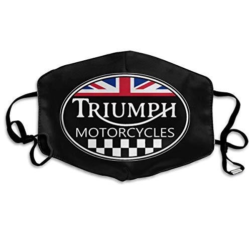 UnisexNose Mund Staubschutz mit Triumph und Motorrad Staub Mundschutz mit verstellbaren Ohrschlaufen