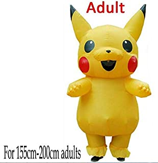 Halloween Adults Inflatable Pikachu Costume Mascot Cosplay Child Funny Dress US (adult)