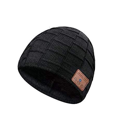 Bluetooth 5.0 Laufmütze Geschenke für Freund,Musik Strickmütze mit Kabellose Kopfhörer Waschbare Samt Mütze Laufen Deckel für Sport Laufen Radfahren Ski Hut Geschenke zu Weihnachten für Männer Frauen