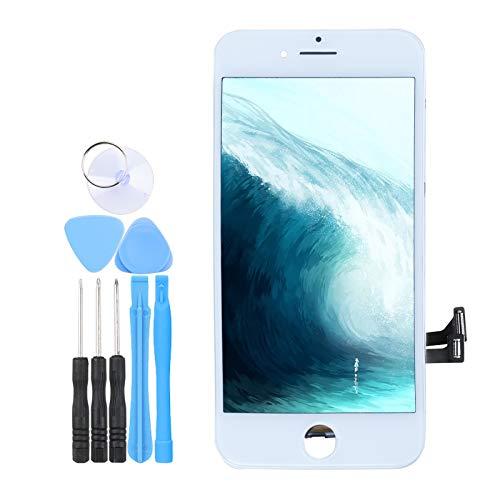 LL TRADER Skärm för iPhone 7 Vit, LCD Retina Touch Ersättnings Digitizer-rammontering med Reparationsverktyg