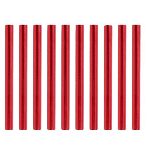 TRIWONDER Tube de Réparation Kit Réparation Tente Tube De Rechange Accessoires de Tente 4 ou 10 Pièces pour Camping Poteau de Diamètre de 7,9 à 8,5 mm (Rouge - 10 Pièces)