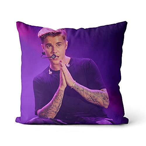 Funda de cojín Justin Bieber Fundas de Almohada de impresi�