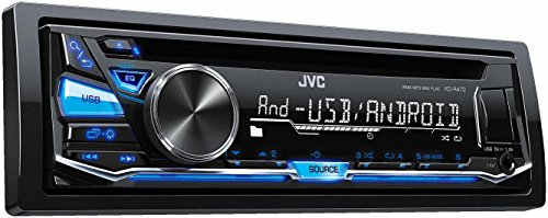 JVC KD-R471 Autoradio USB/CD-receiver met front-AUX-ingang, blauw