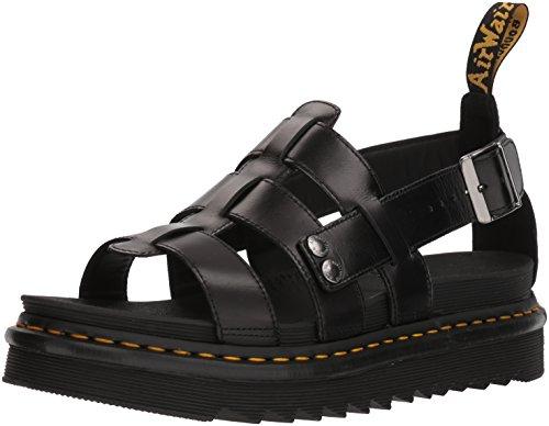 Dr.Martens Unisex Terry Leather Black Sandals 8.5 W / 7.5 M US