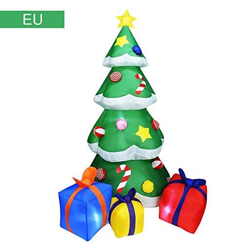 Urben Life Aufblasbarer Weihnachtsbaum, Leucht Christbaum Weihnachtsbeleuchtung Selbstaufblasender 210 cm Weihnachtsdeko Baum Heilig Abend Raumdekoration Weihnachten Dekoration