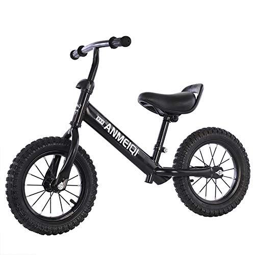 Bicicleta De Equilibrio con 2 Ruedas, Bicicleta Sin Pedales para Niños De 3 A 6 Años De Edad, Ayude A Su Bebé A Mejorar La Fuerza Y El Equilibrio/Asiento Cómodo,Black