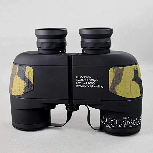 WJKLO Binoculares Binoculares Militares Boshile 10X50 Telescopio HD Profesional BAK4 prismáticos prismáticos Alcance a Distancia 2 Colores