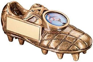 Trophy Shack Brons/Gouden Voetbalschoen Trofee - (1 inch midden) 5 x 2.25in - 127mm x 57mm - Gratis Graveren - JR1-RF194B