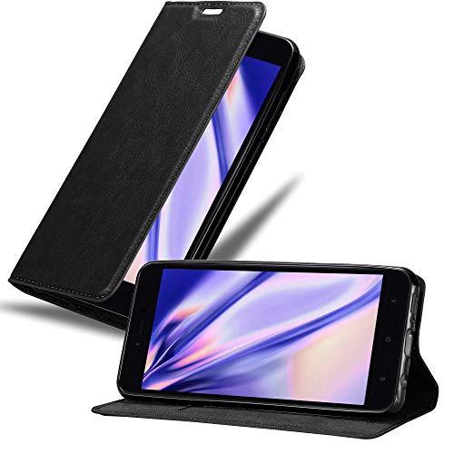 Cadorabo Funda Libro para Xiaomi RedMi Note 5A en Negro Antracita - Cubierta Proteccíon con Cierre Magnético, Tarjetero y Función de Suporte - Etui Case Cover Carcasa