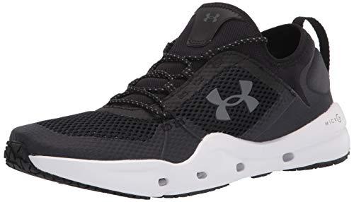 Under Armour mens Micro G Kilchis Sneaker, Black/White, 12 US