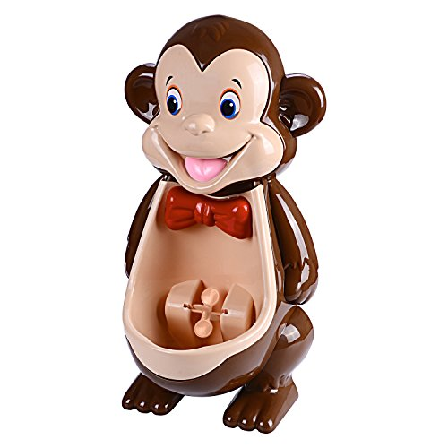 mkool Cute Monkey Potty Training Urinals with Funny Aiming Target Windmill for Kids Toddlers Children Boys